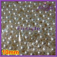 Wholesale Nail art mm Loose Round Plastic Fake Pearl Beads