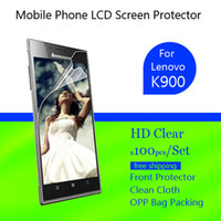 Cheap Wholesale Clear LCD Screen Guard Protector film for lenovo k900 100PCS lot free shipping by air post mail