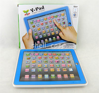 Wholesale Newest Christmas Y Pad Table Learning Machine English Computer for Kids Children Educational Toy Pink and Blue Mixed Music and Led Light