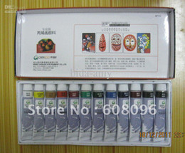 Wholesale - Free shipping, nail art paint ,9mll per piece ,12 pcs per set ,12 colors ,acrylic color