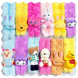 Wholesale High quality Children s cartoon animals plush scarf Cute Baby Scarves Christmas Xmas gifts