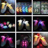 Wholesale 11 Colors The Third Generation LED Flashing Shoelace Fiber Optic Light up Shoe Lace Glowing LED Shoelace