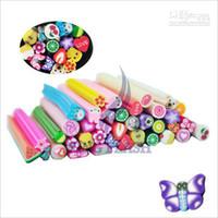 Wholesale 100pcs set Cute D Nail Art FIMO Canes Rods Decoration set