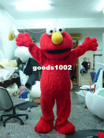 Wholesale Cartoon Clothing Red Elmo Mascot Costume Halloween Costumes Chirstmas Party Adult Size Fancy Dress good quality