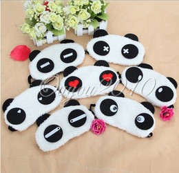 Wholesale Lovely Panda Face Eye Travel Sleeping Mask Blindfold Cute Xmas Christmas Gift