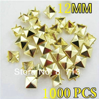 Wholesale New mm claws Gold Pyramid Studs DIY Spots Punk Rock Biker Spikes Bag Shoe Bracelet Clothe Rivets Free shiping
