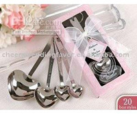 heart measuring spoons - Wedding Favor quot Love Beyond Measure quot Heart Measuring Spoons in Gift Box_Pink
