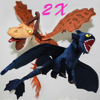 Wholesale 2X How to Train Your Dragon Toothless Night Fury Firedragon nightmare Plush Toy Stuffed Teddy Dolls
