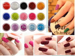 Wholesale mixed Color Velvet Flocking Powder For Velvet Manicure Nail Art Polish Tips