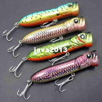Wholesale 3D popper Fishing Lure Hard Bait lures Bass Walleye Crappie Fishing Tackle