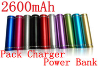 Wholesale 2600mAh Portable Emergency External Backup Battery Pack Charger Power Bank for Mobile Phone Iphone Samsung Nokia Blackberry HTC LG Sony