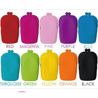 silicone Hasp  4pcs Silicone Coin Purse Makeup Bags Purse Money Bag Wallet Cosmetic Storage Phone Cases Silica gel