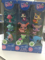 Wholesale Christmas Gift inch Baby Hasbro Littlest Pet Shop PVC Action Figure Doll Toys Style Mixed in set
