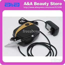 Wholesale Portable Nail Art Airbrush Kit Mini Air Compressor mm Nozzle Airbrush