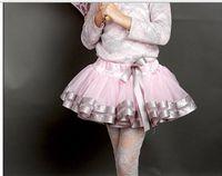 baby girl pettiskirts - Children Short Skirt Gauze Ribbon Baby Girls Tutu Skirt Ball Gown Princess Dance Fluffy Pettiskirts Kids Skirt QZ256