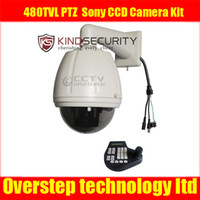 Wholesale CCTV x TVL PTZ Dome Outdoor Sony CCD Camera Kit