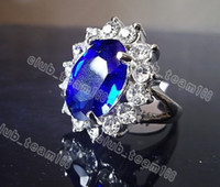 With Side Stones South American Women's wholesale lots 12pcs Big Crystal CZ rhinestone like Prince wedding Silver T ring