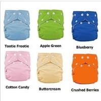 Wholesale 10pcs Button Adjustable washable Baby Leak Proof Cloth Diaper nappy