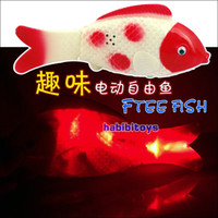 Wholesale simulated fish Electric fish toys with music amp lighting can run amp wag tail