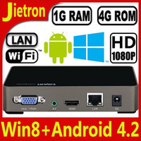 Wholesale Win8 Style Android Smart TV Box Cortex A7 Dual Core G RAM G ROM P HMDI Built in Wifi with LAN VGA AV interface
