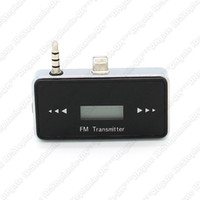 Wholesale Wireless mm LCD Screen Car FM Transmitter Handsfree Audio Adapter Support For iPhone C