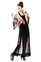 Chiffon Long  S5Q 2013 Womens Sexy Black Sheer Maxi See-Through Chiffon Side Splits Long Full Skirt AAAAWH