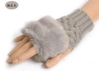 Wholesale Knitted Fingerless Gloves Sunday Angora Yarns colors prs B