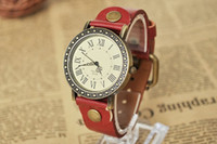 Wholesale Roma number Leather Quartz watches Lady luxury watch Punk Women Dress Wristwatch DHL
