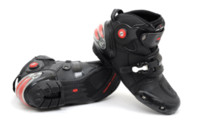 armor boots - New Popular Man Armor Boots Short Boot Shoes Guard Motorcycle Helmet Bike back protector racing jacket shoes D