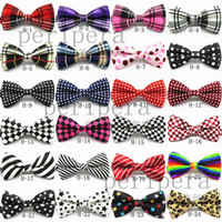 Wholesale Hgh Quality Mix Colors Fashion Man printing Bow Ties Boy bowties