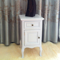 Wholesale Rustic white bedside cabinet brief cabinet modern storage cabinet fashion cabinet smoke