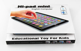 Wholesale DHL EMS Hi pad mini Hi pad for Y pad ypad Table Learning Machine English Computer for Kid Children Educational Toys Music Led