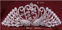 Wholesale Luxury Bridal Swan Crown Tiaras Bling Rhinestone Diamond Crowns Headwear Party Wedding Events Hair jewelry