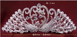 Luxury Bridal Swan Crown Tiaras top hat Bling Rhinestone Diamond Crowns Headwear Party Wedding Events Hair jewelry