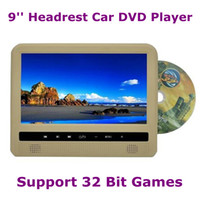 DVD/VCD Player FM transmitter Headrest 9'' Automobile Headrest Car DVD Player Super Slim with MP5 IR 32 Bit Game FM USB Multi Function Free Shipping