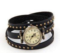 Wholesale bracelets amp bangles Fashionable joker rivet cortex female watch bracelet gift items pc