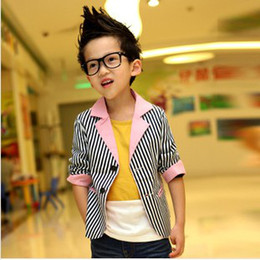 Wholesale Hot Sale Children Boy Line Jakcetsts Spring New Kids Line Pattern Jackets Fashion cool boy waistcoats