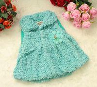 Wholesale New Children s Waistcoat girl s Flowers cardigan fashion vest Children s Outwear Plush vest Baby amp Kids Clothing MAORONG065