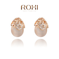 Wholesale ROXI Christmas AAA Zircon Stud Earrings Ladies fashion dinner ornaments Pure hand made bring you different elegant