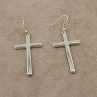 Wholesale New fashion jewelry gold plated stereoscopic cross drop earring for women Min order is mix order E708