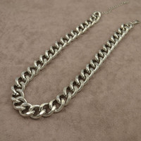 Chokers Fashion Necklaces New fashion costume jewelry metal with white gold plated chain link choker necklace for women high quality N882