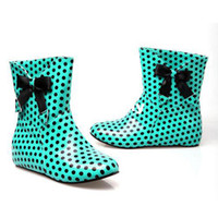 Wholesale Sweet Bow Round Rubber Sole Boots Within The Higher SHL5128