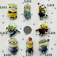 Wholesale MINIMUM order MIX order accepted New Despicable Me D movie cartoon pins gift for kids tiger dog owl fox Christmas gift