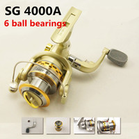 Cheap hot sale SG-4000A 5.1:1 GEAR RATIO Metal Spinning Reels Fishing Tackle Lure Fishing Reels