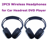 Wholesale 2PCS CH Wireless Headphones Infrared Stereo Headset IR in Car Headrest DVD Player