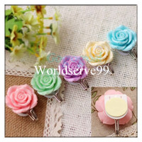 Resin and metal   Rose Self Adhesive Stick On Door Wall Towel Peg Hanger Holder Bathroom Resin Tile Hook