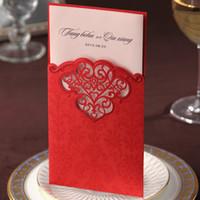 Cheap Invitations & Invitation Buckles Wedding Invitations Best Folded Red Wedding Invitation Card