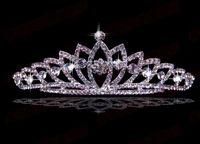 Crown Rhinestone/Crystal  Shining Wedding Bridal Crystal Veil Tiara Crown Headband KL500