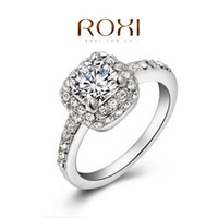 Band Rings Wedding Yes ROXI Christmas gift xurious wedding rings,top quality CZ diamond genuine SWR crystal, 100% hand made fashion jewelry,2010019445