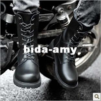 Wholesale fashion military round toe combat martin boots casual extra large cow leather for men